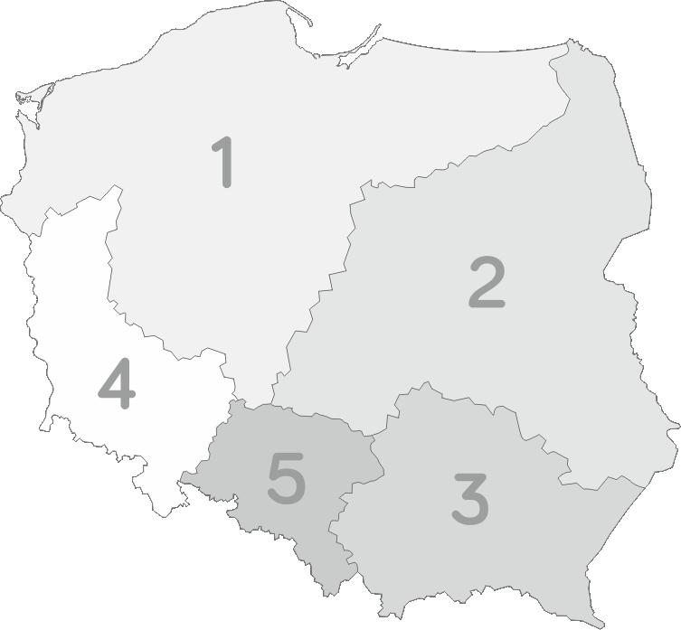 Mapka regionów Franczyza Grupa APtek Prima